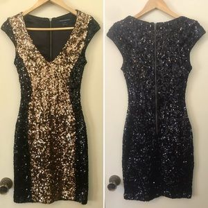 French Connection Moonray sequin dress US size 6